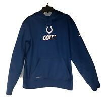 NFL Nike Indianapolis Colts Hoodie Size XLarge Blue Therma Fit On Field Apparel