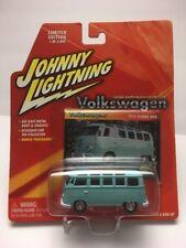 2004 Johnny Lightning - Volkswagon #10 : 1964 Samba Bus (Light Blue) 1 of 4000