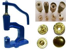 Spindelpresse + 180 Druckknöpfe VT-2 / 10mm gold + Werkzeug für Textil, Stoff