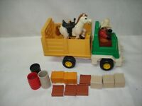 1979 VINTAGE FISHER PRICE 330 HUSKY COWBOY TRUCK  HORSE RODEO RIG