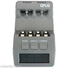 Opus BT-C700 4 Slots Intelligent AA AAA Battery Charger with LCD US PLUG