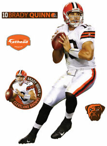 NFL Brady Quinn Cleveland Browns LIFE SIZED AUTHENTIC FATHEAD WALL DECAL New