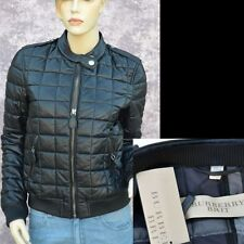 BURBERRY BRIT New sz 44 - 10 Authentic Leather Designer Womens Black Coat Jacket