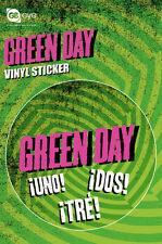 GREEN DAY AUFKLEBER STICKER # 32 UNO DOS TRE 9cm