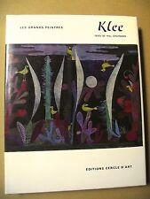 WILL GROHMANN PAUL KLEE ÉDITIONS CERCLE D'ART 1968 NBRES ILLUSTRATIONS COULEURS
