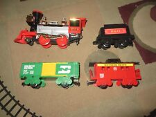 FORTY-NINER TRAIN SET Puffing Smoke-BATTERY OPERATED 1991 Operating Headlights