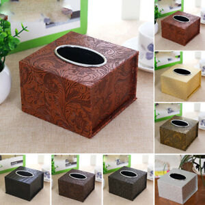 PU Leather Tissue Box Holder Organizer Cover,Home&Office Decor For Any Room Hot