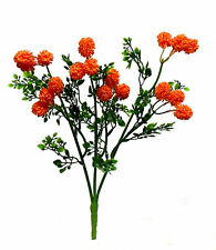 "Pom Pom Bush Orange 15"" Centerpieces Silk Wedding Flowers Bouquets Crafts"