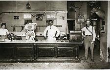 Vintage Butcher Shop Sawdust Floor Deer Mounts Postman Scale Meat Market 1916