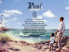 """""""Father Son 2"""" Name Meaning Print Personalized (African American)"""