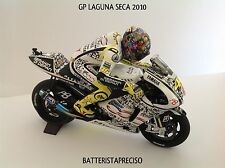 MINICHAMPS VALENTINO ROSSI 1/12 MOTO + FIGURE YAMAHA 2010 GP LAGUNA SECA LIMITED