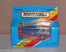 Matchbox mb 38 Ford A TT 90 limited edition Isle of man bleu NB ! (#A4)