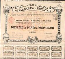Deko => Société Belge-Roumaine von Verkehrsmittel & Industrie (Belgien Rumänien)
