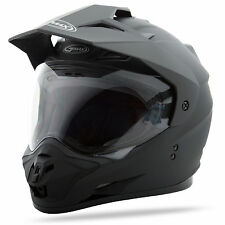 GMAX GM11 Dual Sport Adventure Helmet (Flat Black) L (Large)