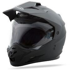 GMAX GM11 Dual Sport Adventure Helmet (Flat Black) L (Large)