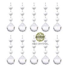 10 Clear Crystal Glass Chandelier Light Ball Prism Suncatcher Drops Pendant 30mm