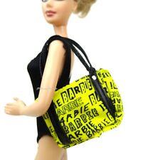 Barbie Basics Accesorio Amarillo y Negro Bolso Bolso De Mano Nuevo