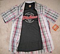 Dickies 2 in 1 Shirt+T-shirt. S,M,L,2XL.NWT.100% Cotton. Short Sleeve