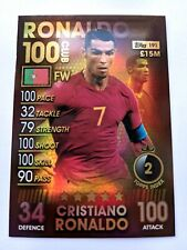 Match Attax 101 Cristiano Ronaldo 100 Hundred Club Portugal 2019 card 191