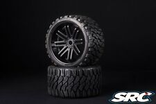 SRC Terrain Crusher [Belted Tires / Wheels] for 17mm Hex / Traxxas E-REVO (Pair)