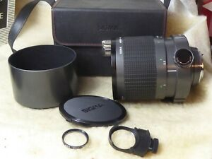 Sigma 600mm F8 mirror lens. Pentax k mount  genuine hood dropin filter VGC PK
