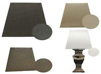 Lampenschirm für Stehlampe Stoff eckig E 27 Schirm Tischlampe Textil