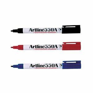 Artline 550A Whiteboard Marker Colour Pen 1.2mm Dry Erase|Red Blue Black|PK 6 12