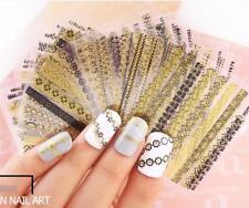 24 Pcs Nail Sticker 3D Nail Art Sticker Decal Manicure Gold Stripe Love Hot Sale