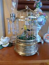 Great Sound Vintage Singing Bird Cage Automaton Music Box see youtube video