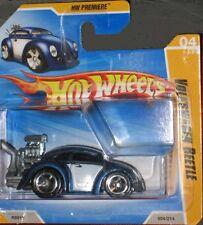 2010 HOT WHEELS VW TOONED KÄFER BEETLE BLAU-WEISS 04/52
