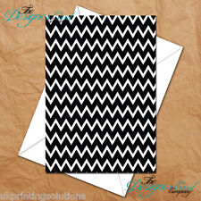 General Greeting Card - B&W Large Chevrons Print Monochrome