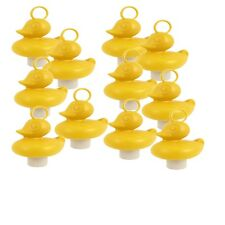 10 YELLOW DUCKS with hook & weight - HOOK-A-DUCK Games! 8cm