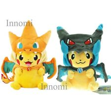"Set of 2 Pokemon 9"" Mega Pikachu Charizard Hat Plush Toy Stuffed Animal Doll"