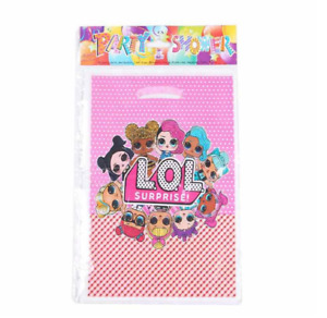 LOL Doll Surprise Birthday Party Plastic Loot Gift Bags Pack of 10