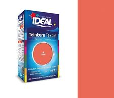 TEINTURE avec FIXATEUR TEXTILE TISSU CORAIL ORANGE 36 IDEAL vêtement coton soie