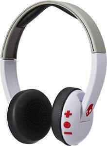 Skullcandy Uproar Bluetooth Wireless On-Ear Headphones - White/Gray/Red