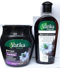 Dabur Vatika Black Seed Deep Conditioning Hair Mask 500ml & Oil 200ml