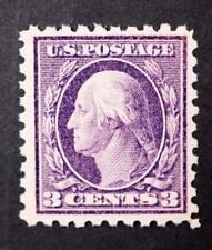 U.S. Scott # 426 1914 Washington 3 Cent Violet Stamp Mint LH (say) CV $33-$50