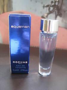 Miniature de parfum aquaman de ROCHAS -- EDT 5 ml + boîte