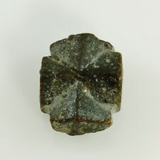 "STAUROLITE & Garnet in Schist Fairy Cross 14.4 gram 0.95""w/Healing Property Card"