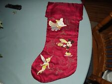 Disney Christmas Stocking w Dumbo Mickey Mouse Tinkerbell