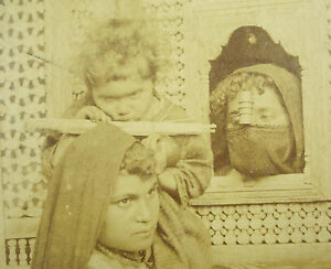 Signed Félix Bonfils Women of / The Caire Africa 1870 Photography Woman IN Egypt