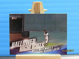 2016 Topps Hallowed Fait Marquant #HH7 Willie Mays