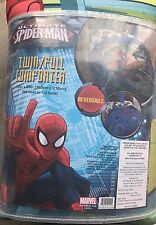 MARVEL ULTIMATE SPIDER-MAN Boys Twin/Full Bed COMFORTER Reversible NEW