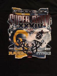 NWOT Vintage Los Angeles Rams Titans Super Bowl XXXIV T Shirt Size Large New