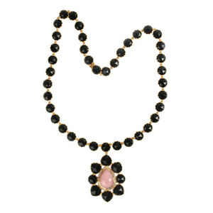 Gift For Mom Natural Onyx & Precious Opals Rope Necklace 18k Yellow Gold Jewelry