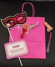 HEN NIGHT PHOTO PROP PARTY BAG FILLED WITH 5 ITEMS, New Lower Price