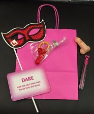 Hen Night Photo Prop Party Bag Filled With 5 Items, Simple Fun Filled Bag