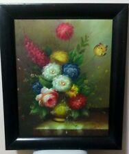 Canvas art 16x20 inches oil painting flowers, It is signedby the artist.