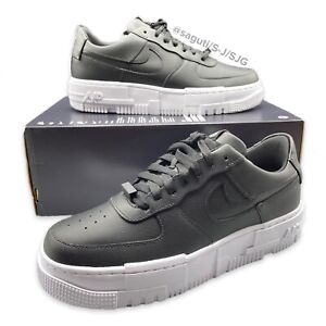 Nike Air Force 1 Women AF1 Pixel Black/White Sz 9.5 New Casual Shoes CK6649-001
